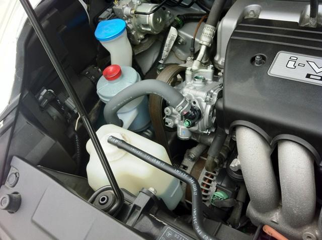 ステップワゴンRG1のエンジン付近から異音(モーター音)